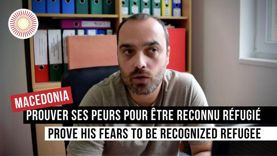 Debas Eva-Marie - Europe Convergence — Interview   Prouver ses peurs pour être reconnu réfugié / Prove his fears to be recognized refugee   NORTH MACEDONIA