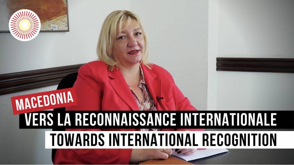 Vers la reconnaissance internationale / Towards international recognition   NORTH MACEDONIA